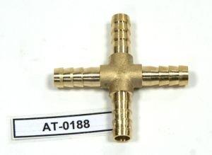 Переходник для шланга подкачки X-образный d=8мм АВТОТОРГ АТ-0188, AT10192/АТ-0188
