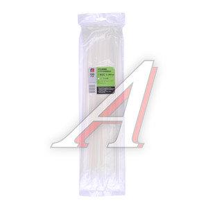Хомут-стяжка 450х5.0 пластик белый (100шт.) FORTISFLEX 1005450, 49788