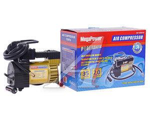 Компрессор автомобильный 35л/мин. 10атм. 14А 12V в прикуриватель (автомат давления, сумка) MEGAPOWER M-14001A