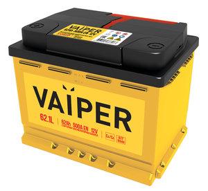 Аккумулятор VAIPER 62А/ч 6СТ62, 84475