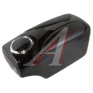 Подлокотник универсальный REX с держателем банок кожа черный HJ-48007-E2