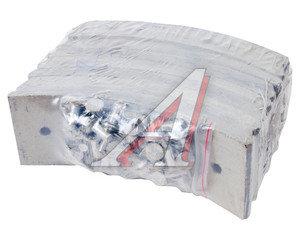 Накладка тормозной колодки ЗИЛ-4331-33 передней сверленая расточенная комплект 8шт.с заклепками 133-3501105к, 133-3501105 К-Т