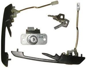 Ручки двери и замок багажника ВАЗ-2109 комплект ДААЗ 2109-6100040-10, 21090610004010