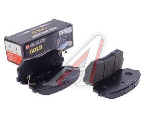 Колодки тормозные KIA Sportage (05-),Carens (06) передние (4шт.) HSB HP1040, GDB3461/58101-1DE00 / 58101-0ZA00 / 58101-2EA30, 58101-1DA00