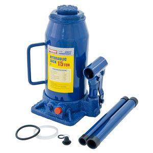 Домкрат бутылочный 15т 230-460мм с клапаном MEGAPOWER M-91504, Д2-3913010