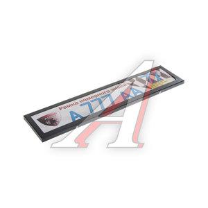 Рамка знака номерного нержавеющая сталь черная TORINO 13648, AF-004