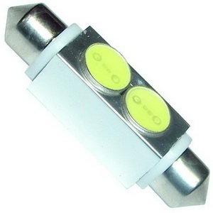 Лампа светодиодная 12V C10W SV8.5-8 42мм двухцокольная White MEGAPOWER 50433W, M-50433W-OLD