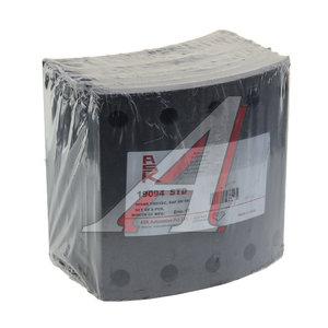 Накладка тормозной колодки BPW SAF (420x200) стандарт 80 отв. 8x15 / 93251 (8шт.) ASK ASKBL1104, 19094