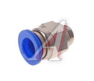 Соединитель трубки ПВХ,полиамид d=10мм (наружная резьба) М12х1.25 прямой PC M12x1.25 d=10, АТ-0707/АТ10607
