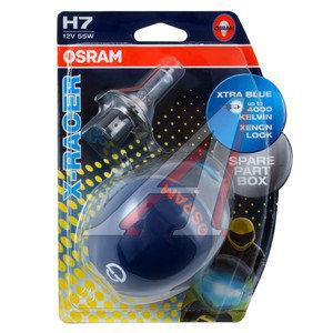 Лампа 12V H7 55W PX26d блистер (2шт.) X-Racer OSRAM 64210XR-02B, O-64210XR-2бл, АКГ 12-55 (Н7)