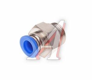 Соединитель трубки ПВХ,полиамид d=8мм (наружная резьба) М16х1.5 прямой PC M16x1.5 d=8, АТ-0711