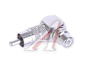 Переходник RCA (гнездо)-RCA (штырь) угловой метал PREMIER 2-273