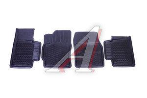 Коврик салона TOYOTA Corolla (16-) резина черный (4 предм.) ДВА КОЛЕСА ADRPRO012 (55-09-131), Два Колеса