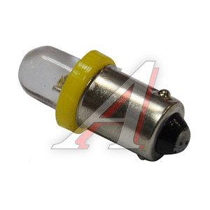 Лампа 12VхT4W (BA9s) ROUND YELLOW 1 свет-од MEGA ELECTRIC ME-0406Y, А12-4-1