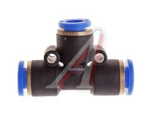 Соединитель трубки ПВХ,полиамид d=6мм тройник PUT06, АТ-352/АТ10352