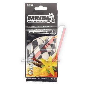 Ароматизатор подвесной пластина (ваниль) флаг Formula-1 CARIBI CRB-F1 ваниль
