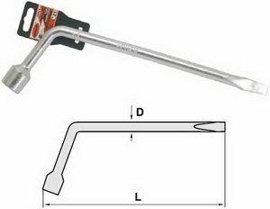 Ключ баллонный Г-образный 17мм L=450мм с лопаткой АВТОДЕЛО АВТОДЕЛО 39017, 11588