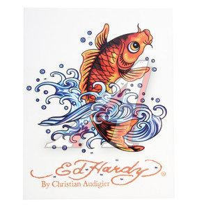"""Наклейка виниловая """"GOLDEN FISH"""" 18х23см со стразами ED HARDY EH-00427"""
