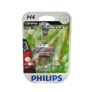 Лампа 12V H4 60/55W P43t-38 блистер (1шт.) Long Life Eco Vision PHILIPS 12342LLECOB1, P-12342LLECOбл, АКГ12-60+55(Н4)