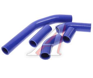 Патрубок ГАЗ-3302 Бизнес дв.УМЗ-4213,4216 (107 л.с) радиатора комплект 5шт. синий силикон 33023-1303010