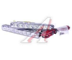 Огни ходовые дневного света LED 8 светодиодов 12V 6000K 80Кд 160х20х35мм поворотник XENITE 1001003