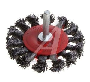 Кордщетка для дрели дисковая 75мм крученая сталь FIT FIT-38585