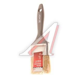 """Кисть плоская 2.5"""" натуральная щетина пластиковая ручка Евро MATRIX 83064"""