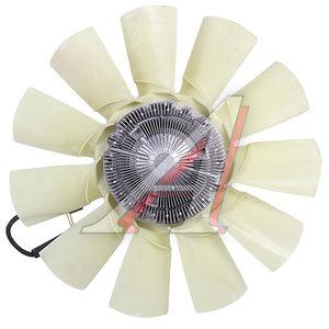 Вентилятор ЯМЗ-650.10 с вязкостной муфтой BEHR HELLA 650.1308010, 8MV376729491