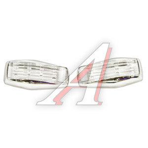 Повторитель поворота 12V Chrome 8 LED White комплект 2шт. GLIPART GT-50540W