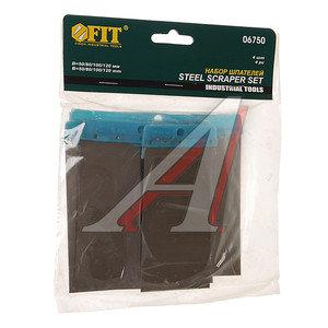 Набор шпателей 50-80-100-120мм сталь черный 4 предмета FIT FIT-06750, ф-06750