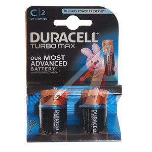 Батарейка C LR14 1.5V блистер (2шт.) Alkaline Turbo DURACELL D-LR14Tбл