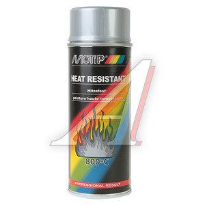 Краска термостойкая до +800C серебристая аэрозоль 400мл MOTIP MOTIP 4032, 4032