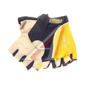 Перчатки велосипедные гель/силикон желтые XY-B03