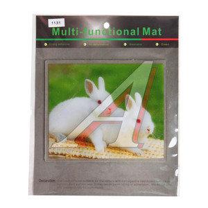 Коврик на панель приборов универсальный противоскользящий 180х150 с рисунком кролики ART1131