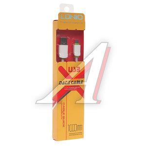 Кабель micro-USB 1м белый силиконовый плоский LDNIO LDNIO LS-062W, LDNIO LS06