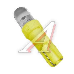 Лампа светодиодная 12V W1.2W W2х4.6d бесцокольная Round Yellow MEGA ELECTRIC ME-0415Y, А12-1,2