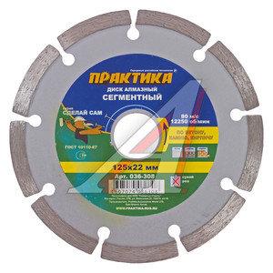 Круг отрезной 125х22мм алмазный сегментный ПРАКТИКА 036-308