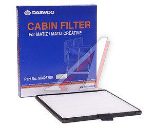 Фильтр воздушный салона DAEWOO Matiz (98-) (0.8/1.0) CHEVROLET Spark (05-) DAEWOO 96425700, LA624