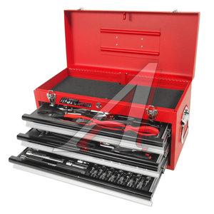 Набор инструментов 65 предметов слесарно-монтажный в переносном инструментальном ящике (3 лотка) JTC JTC-B065