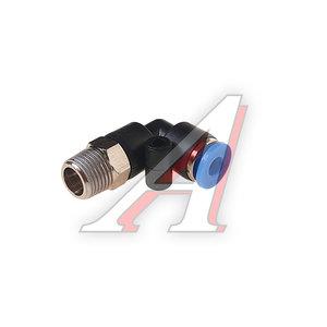 """Фитинг для пластиковых трубок 1/8"""" угловой 4мм с наружной резьбой ROCK FORCE RF-SPL04-01"""