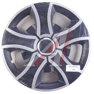Колпак колеса R-16 черный/хром микс комплект 4шт. БИС ХРОМ МИКС БИС ХРОМ МИКС R-16