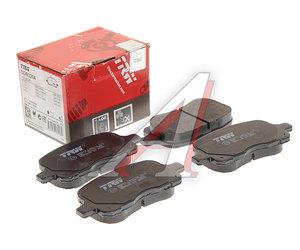 Колодки тормозные TOYOTA Corolla (97-) передние (4шт.) TRW GDB3204, 04465-02050