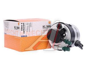 Фильтр топливный FORD Focus 2,Fiesta 4,Fusion (1.6 TDCI) MAHLE KL569, 1386037