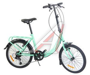 """Велосипед 20"""" 7-ск. складной бирюзовый HILAND T18B704 B, 129"""