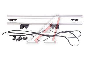 Багажник поперечины для рейлингов L=1300мм аэродинамический алюминий комплект LUX 690380
