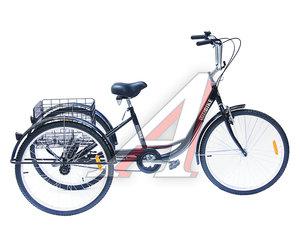 """Велосипед 26"""" 1-ск. 3-х колесный 1 корзина TOTEM JK164273, T032016"""