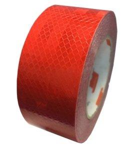 Лента светоотражающая красная (20м) призматическая Лента светоотражающая (красная) 5смх20м, 5смх20м красная