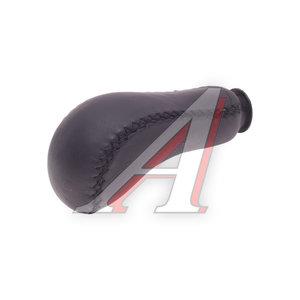 Ручка на рычаг КПП для иномарок черная кожа RKP-01