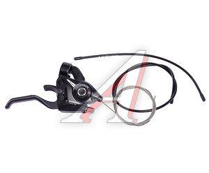 Шифтер тормозной правый 7 скоростей тросс+оплетка Tourney EF51 SHIMANO черный ESTEF51R7AL2P