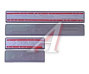 Накладка порога MITSUBISHI ASX NEW хром комплект PRO SPORT RS-09384